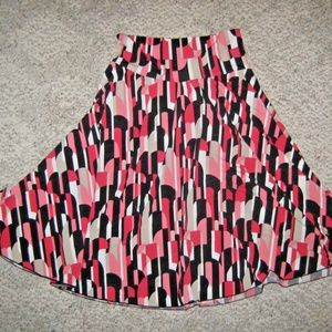 Black Red Pink White Tan Gypsy Hippie Flare Skirt
